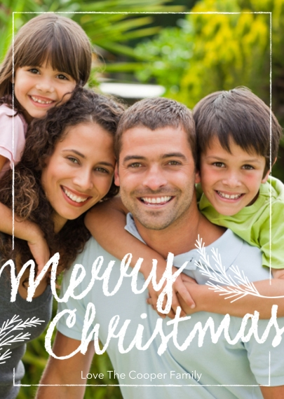 Christmas Photo Cards 5x7 Folded Cards, Standard Cardstock 85lb, Card & Stationery -Signature Chalk Greetings