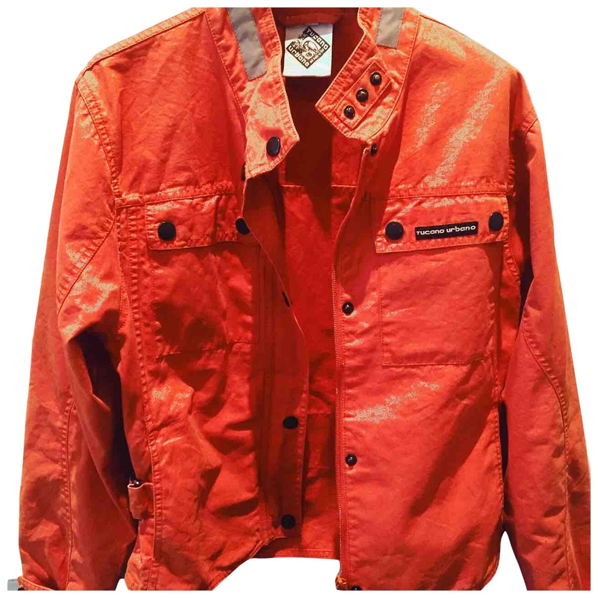 Non Signe / Unsigned \N Jacke in  Orange Baumwolle