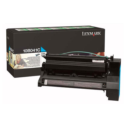 Lexmark 10B041C Original Cyan Return Program Toner Cartridge