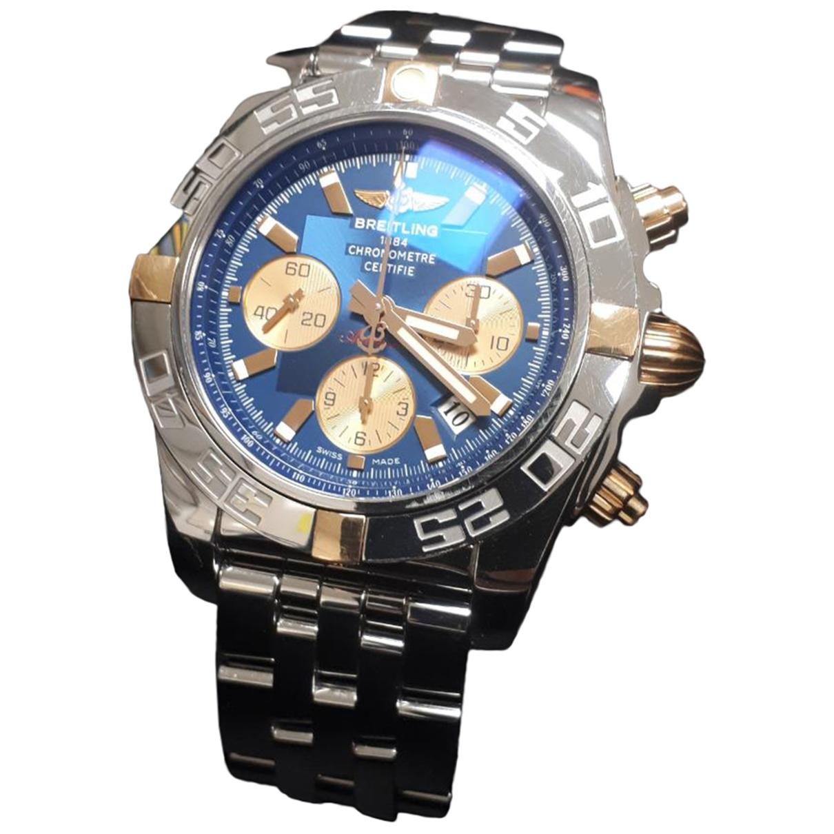 Breitling Chronomat Uhr in  Blau Stahl