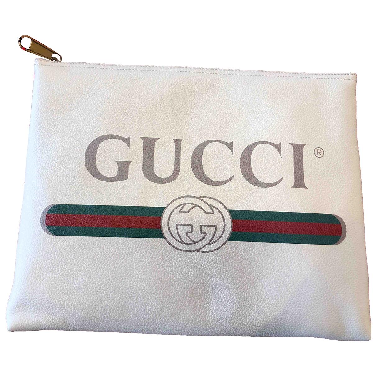 Gucci \N Kleinlederwaren in  Ecru Leder