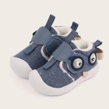Baby Jungen Sneakers mit Karikatur Grafik und Klettverschluss