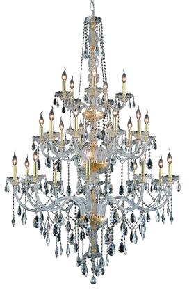 7925G43G/SS 7925 Verona Collection Large Hanging Fixture D43in H68in Lt: 25 Gold Finish (Swarovski Strass/Elements