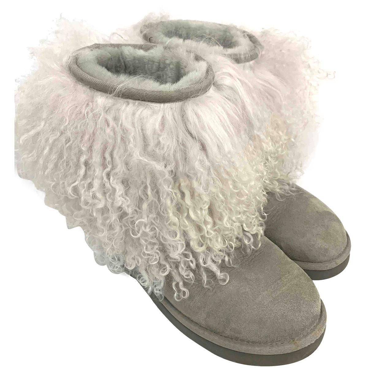 Ugg \N Grey Suede Boots for Women 38 EU