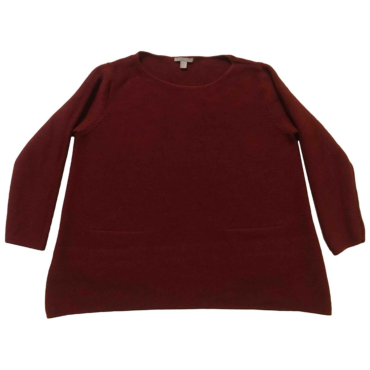 Cos - Pull   pour femme en laine - bordeaux