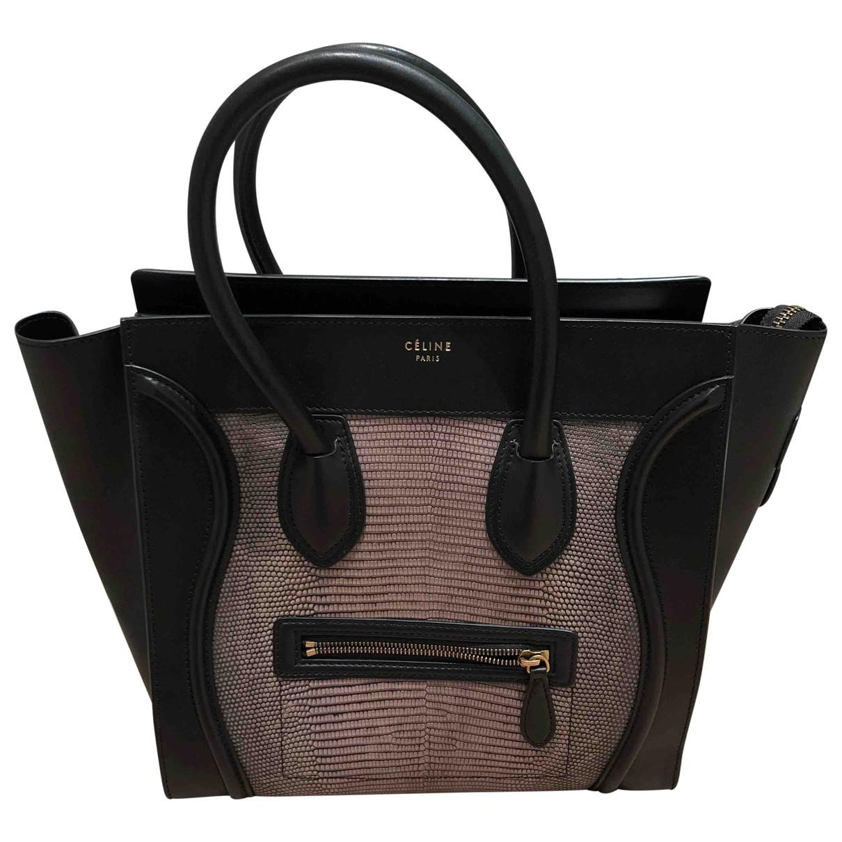 Celine Luggage Handtasche in  Schwarz Echse
