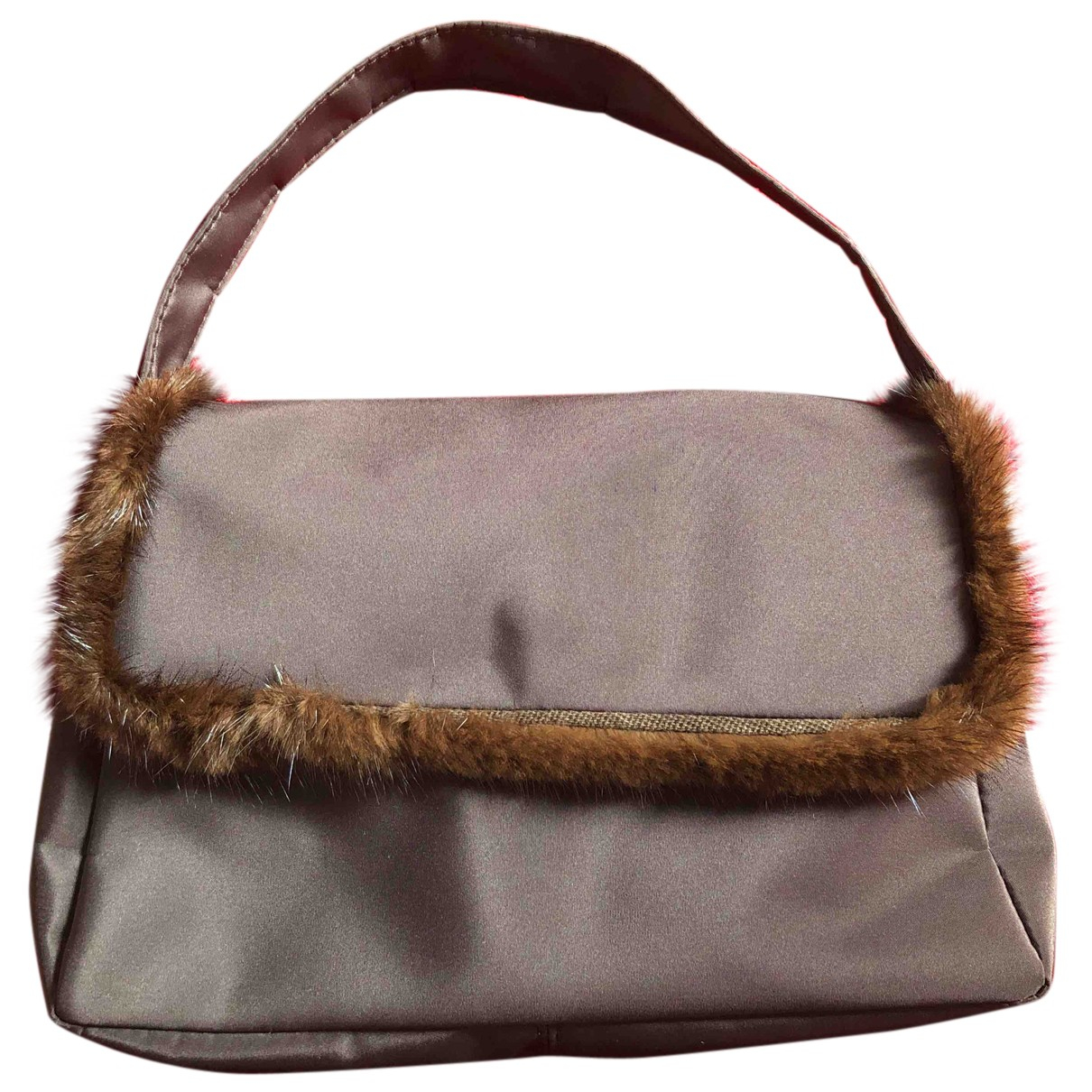 Non Signé / Unsigned N Brown Fur handbag for Women N