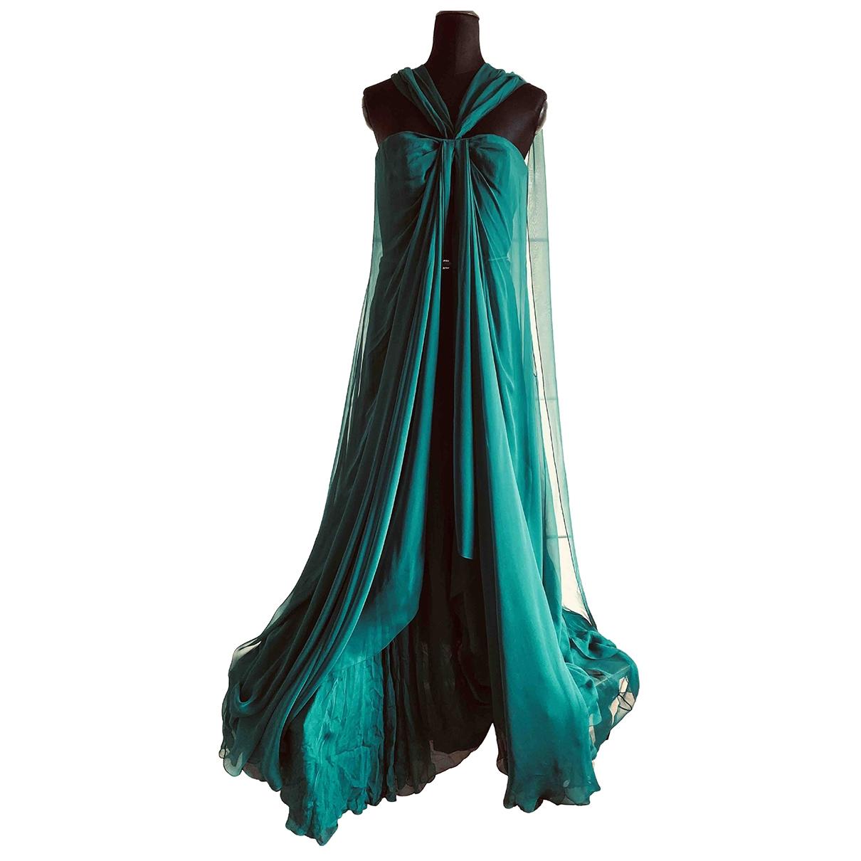 Gucci \N Green Silk dress for Women 46 IT