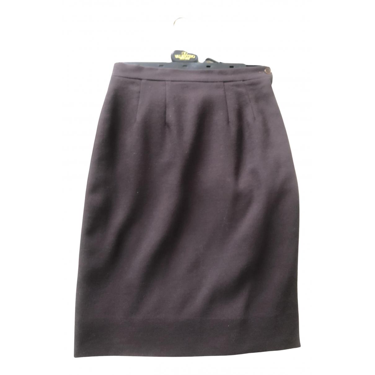 Valentino Garavani N Black Wool skirt for Women 40 IT