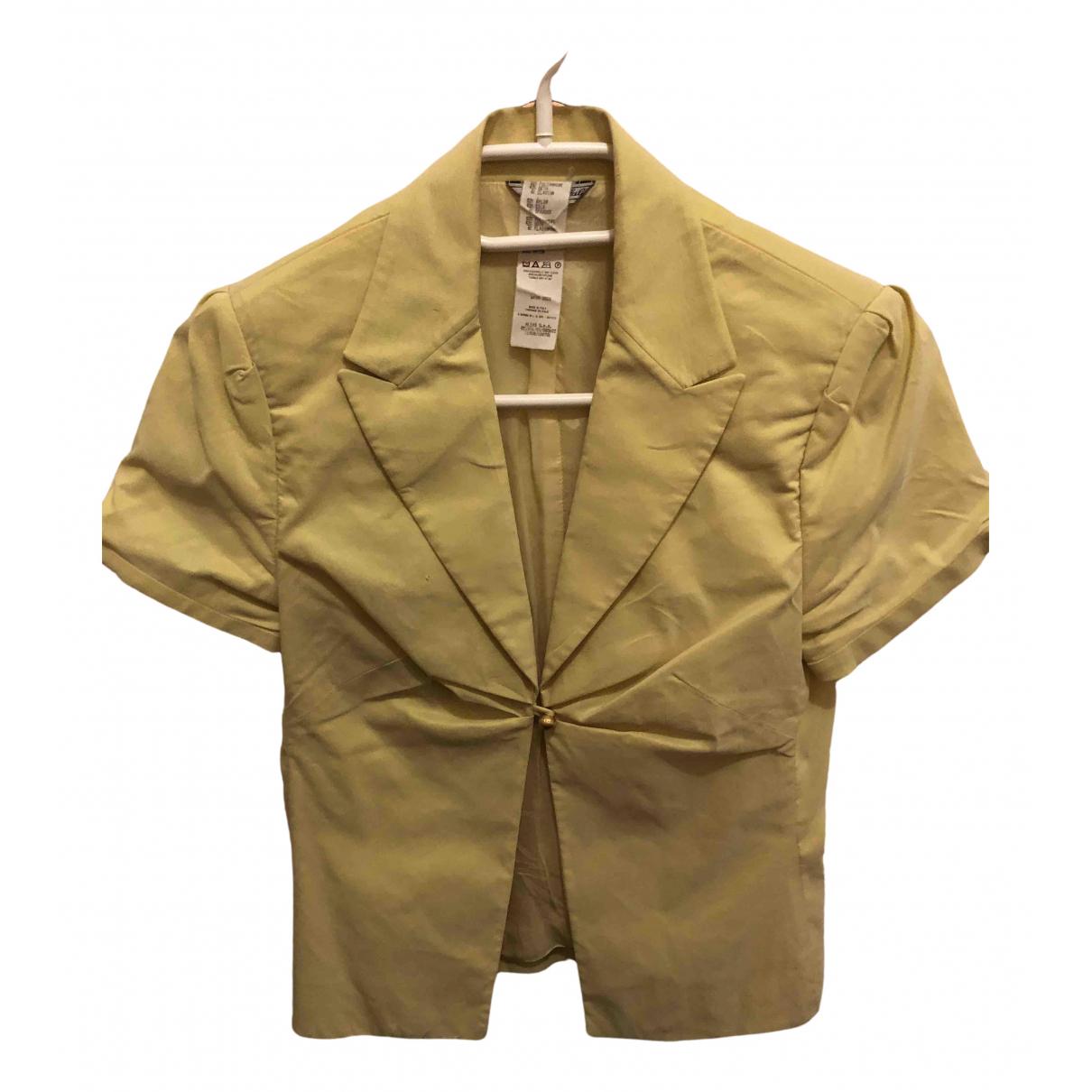 Versace - Veste   pour femme - jaune