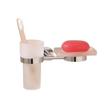 Porto 675253NI Tumbler and Soap Dish Holder 5 1/2