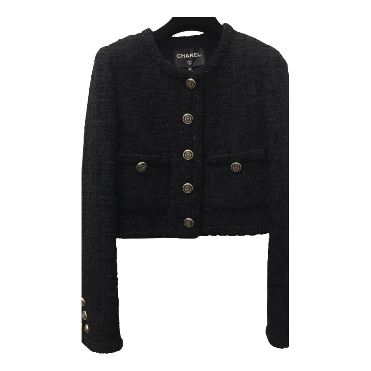 Chanel - Veste   pour femme en tweed - noir