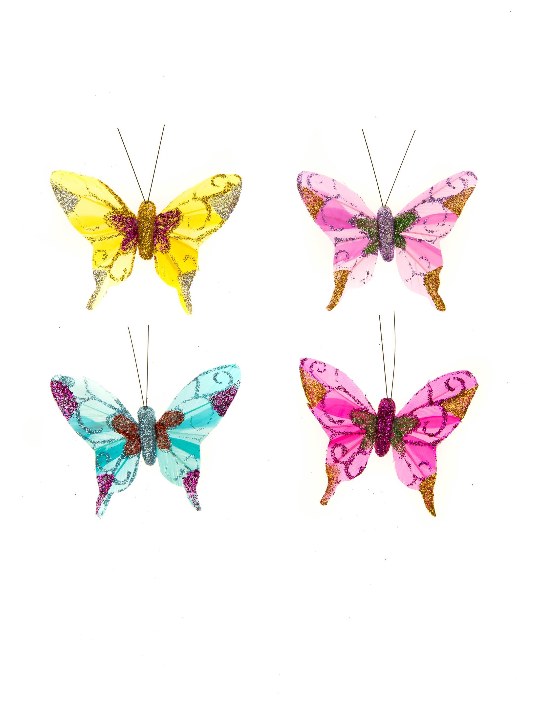 Schmetterlinge 10cm Farbe: multicolor bzw. bunt