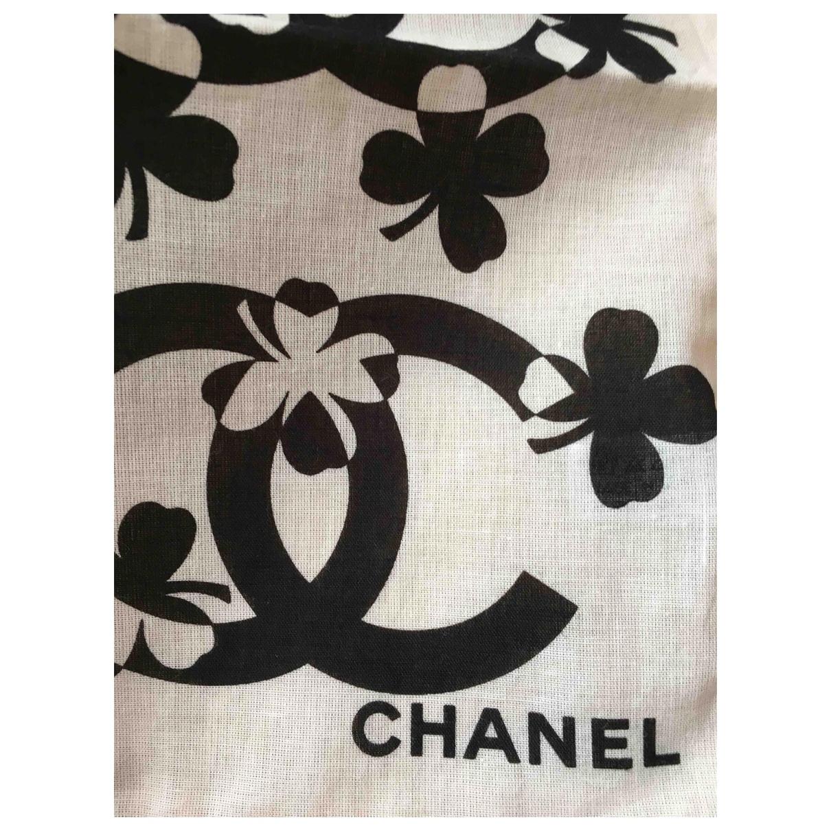 Chanel \N Black Cotton Silk handkerchief for Women \N