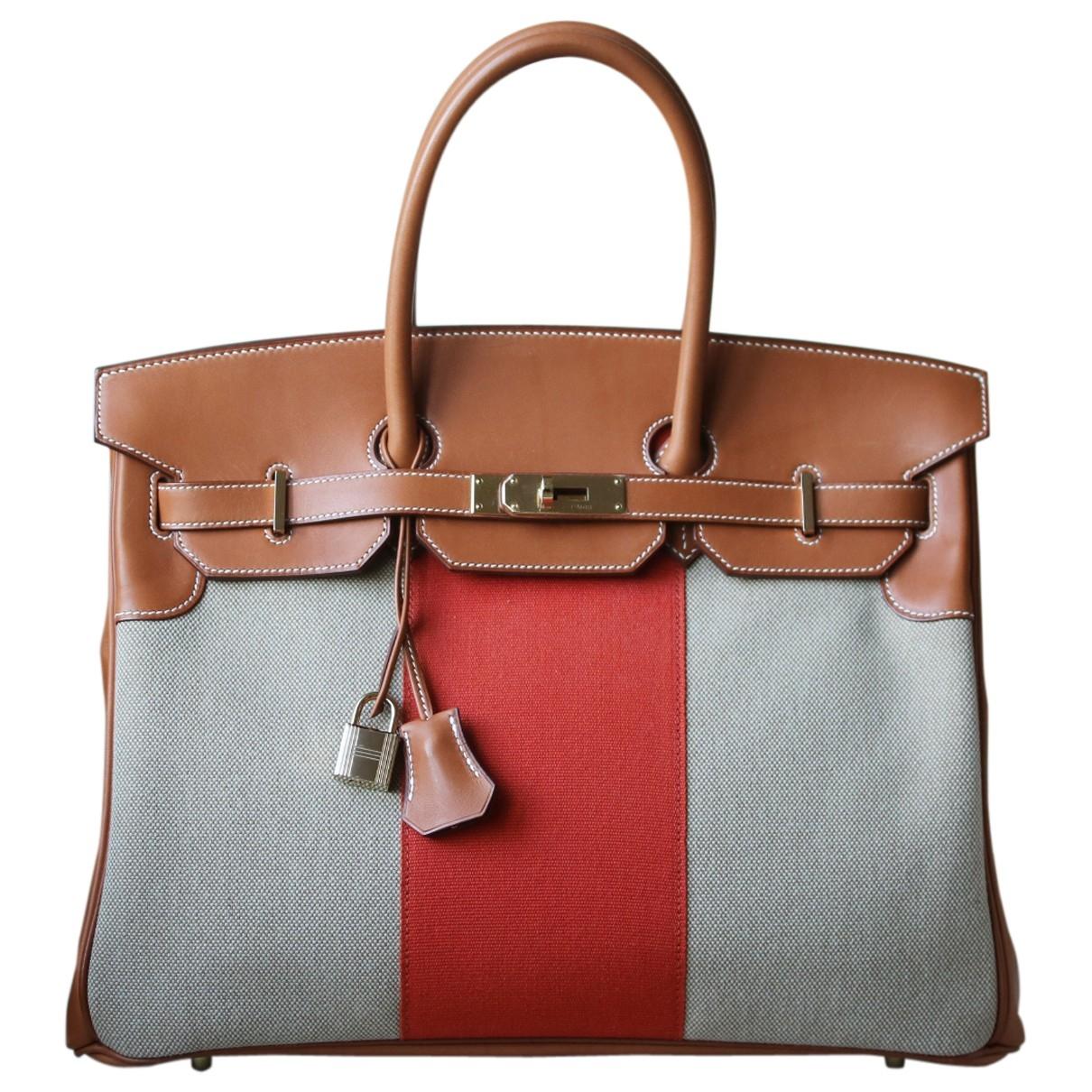 Bolso  Birkin 35 de Lona Hermes