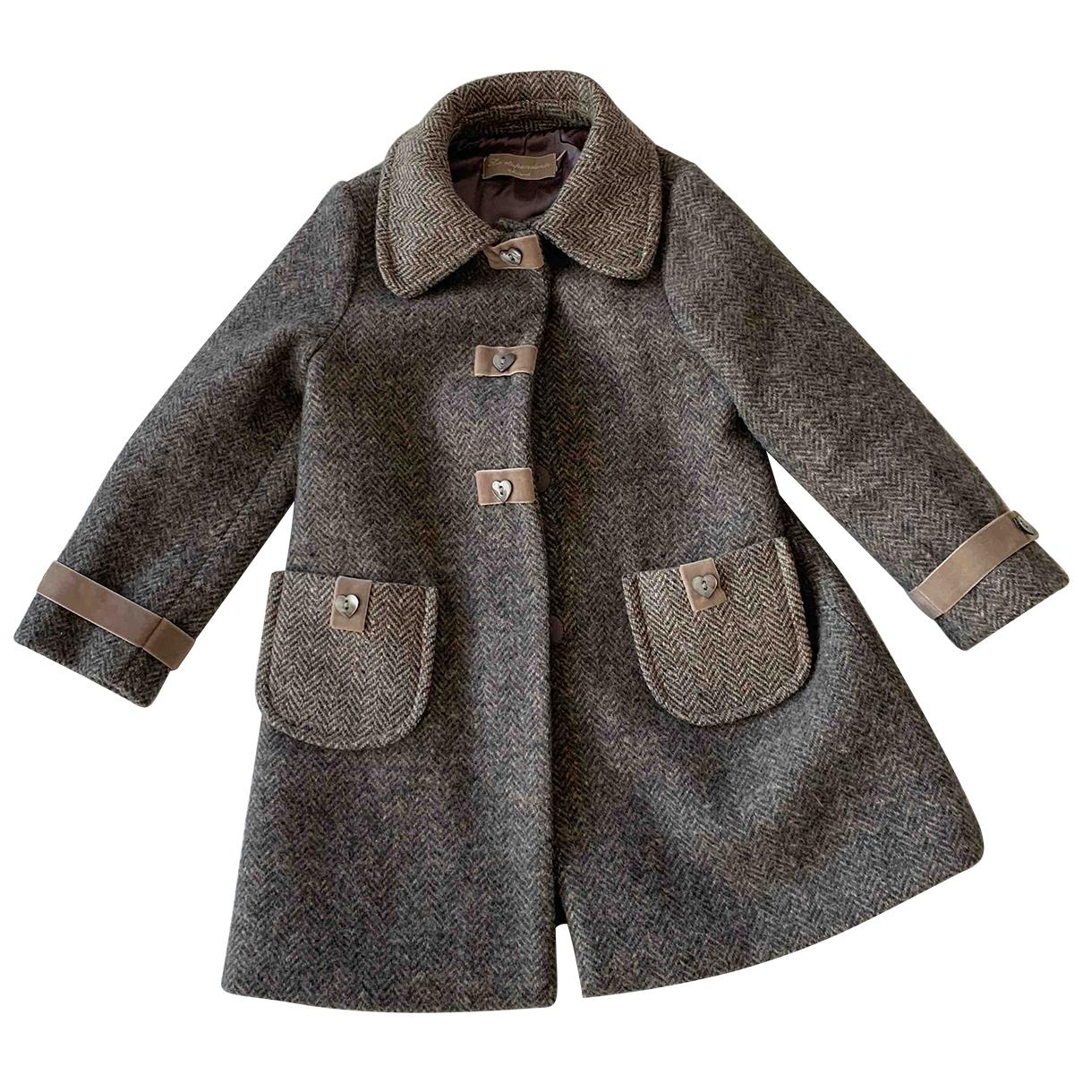 La Stupenderia - Blousons.Manteaux   pour enfant en laine - gris