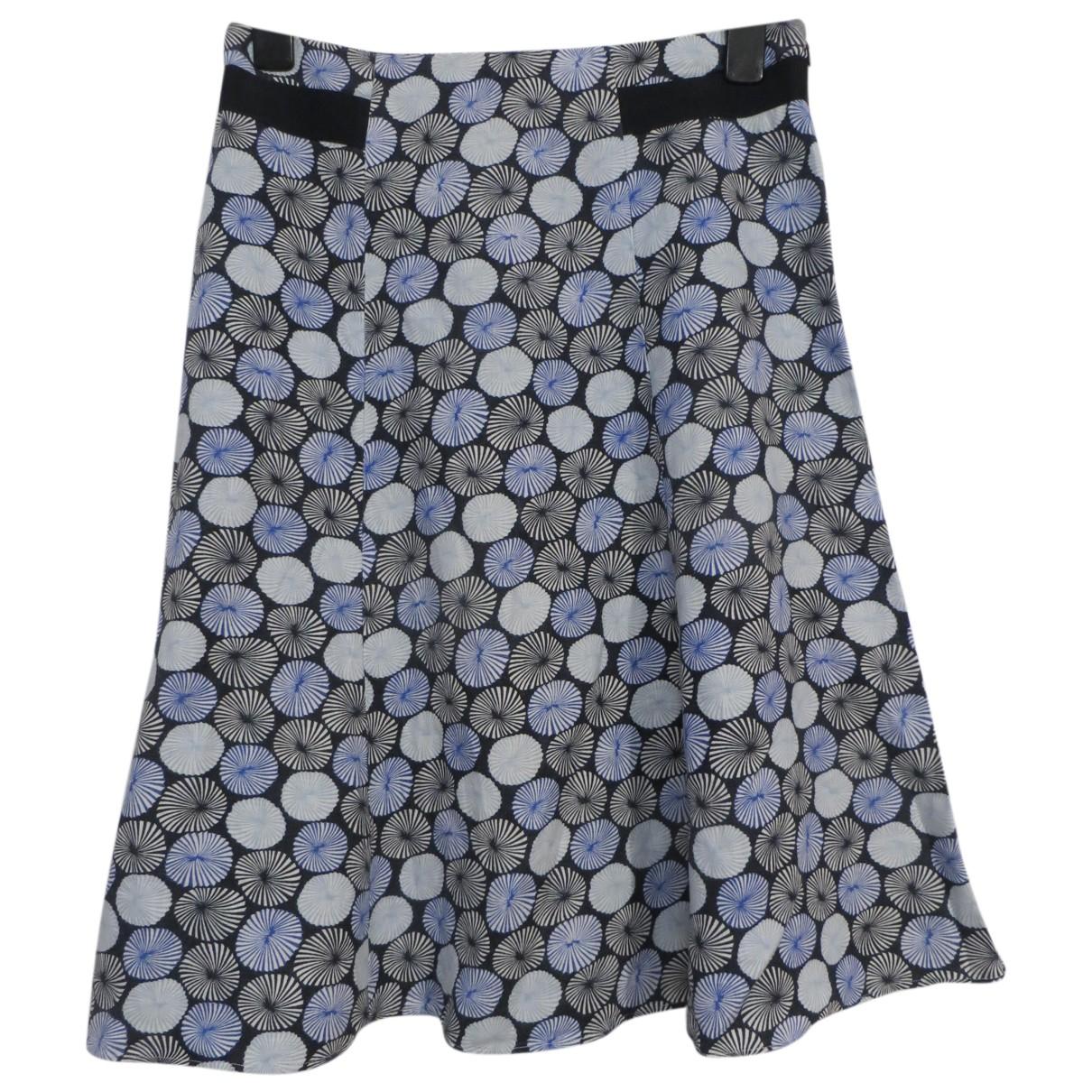 Hobbs - Jupe   pour femme en coton - bleu
