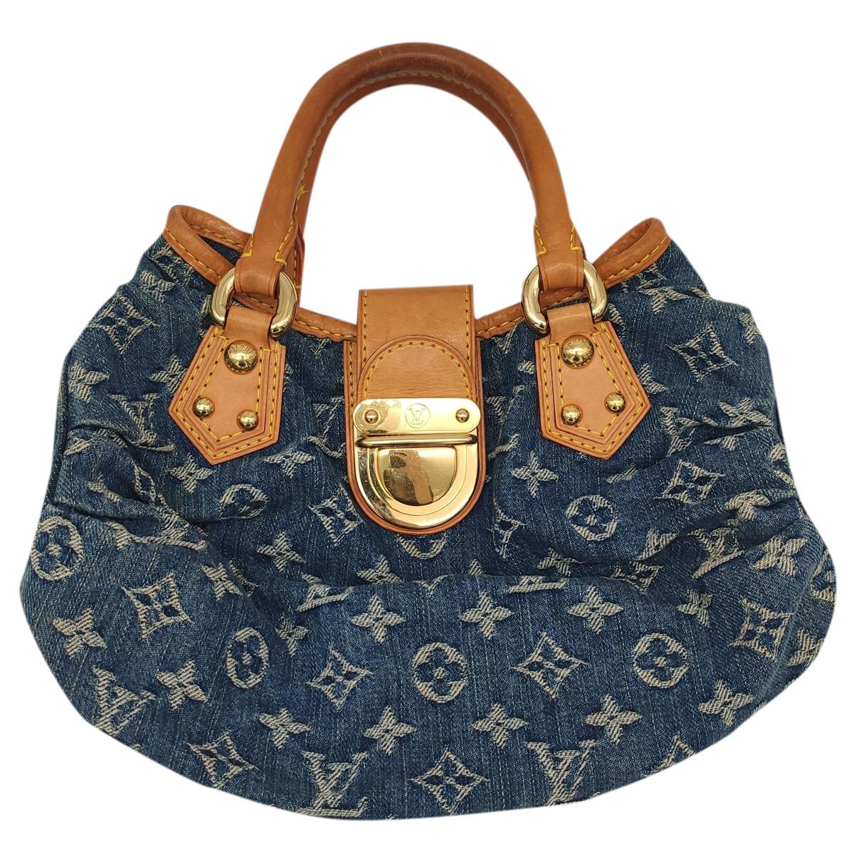 Louis Vuitton Baggy Handtasche in  Blau Denim - Jeans