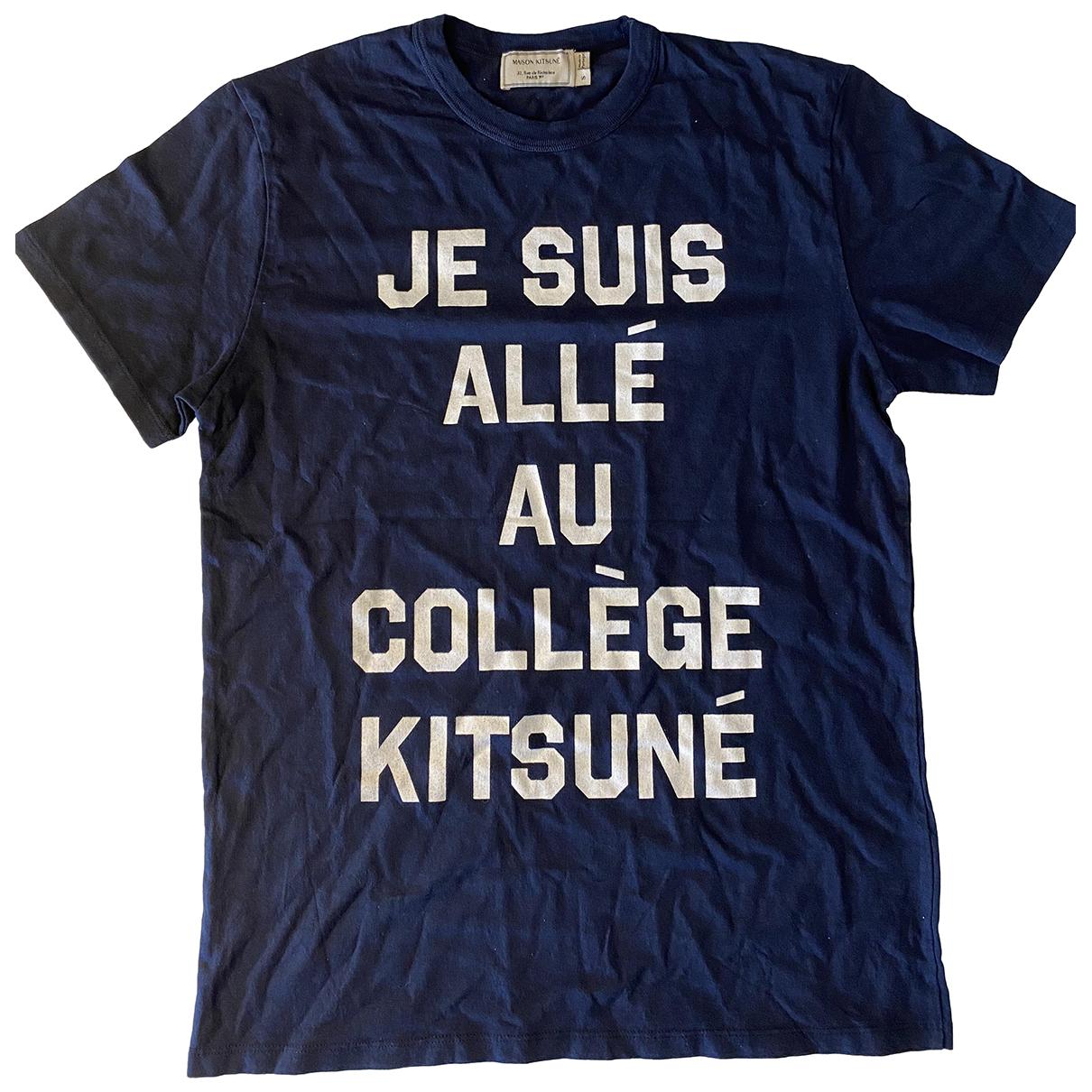 Maison Kitsune \N Blue Cotton  top for Women S International