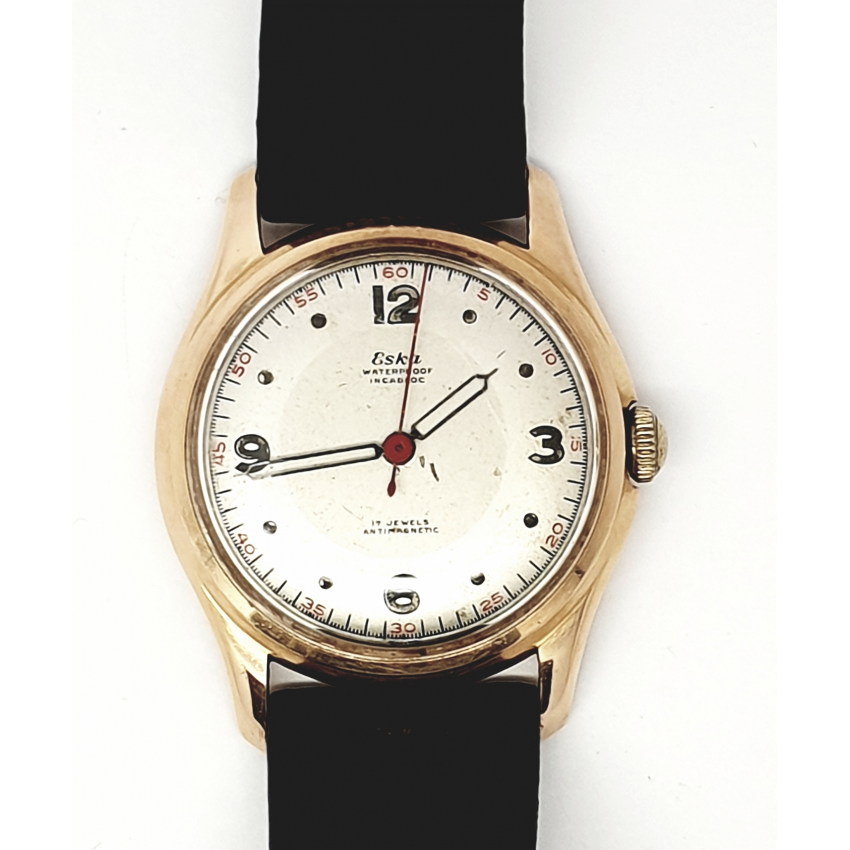 Non Signe / Unsigned \N Uhr in  Gold Rosegold
