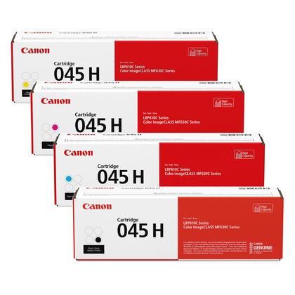Canon 045H Original Toner Cartridge Combo High Yield BK/C/M/Y