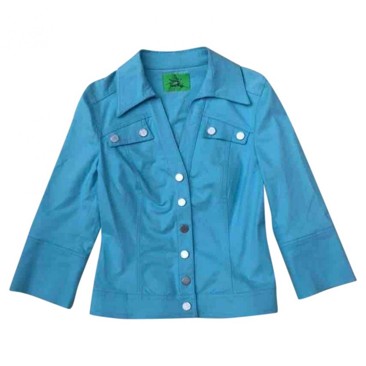 Thierry Mugler - Veste   pour femme en coton - turquoise