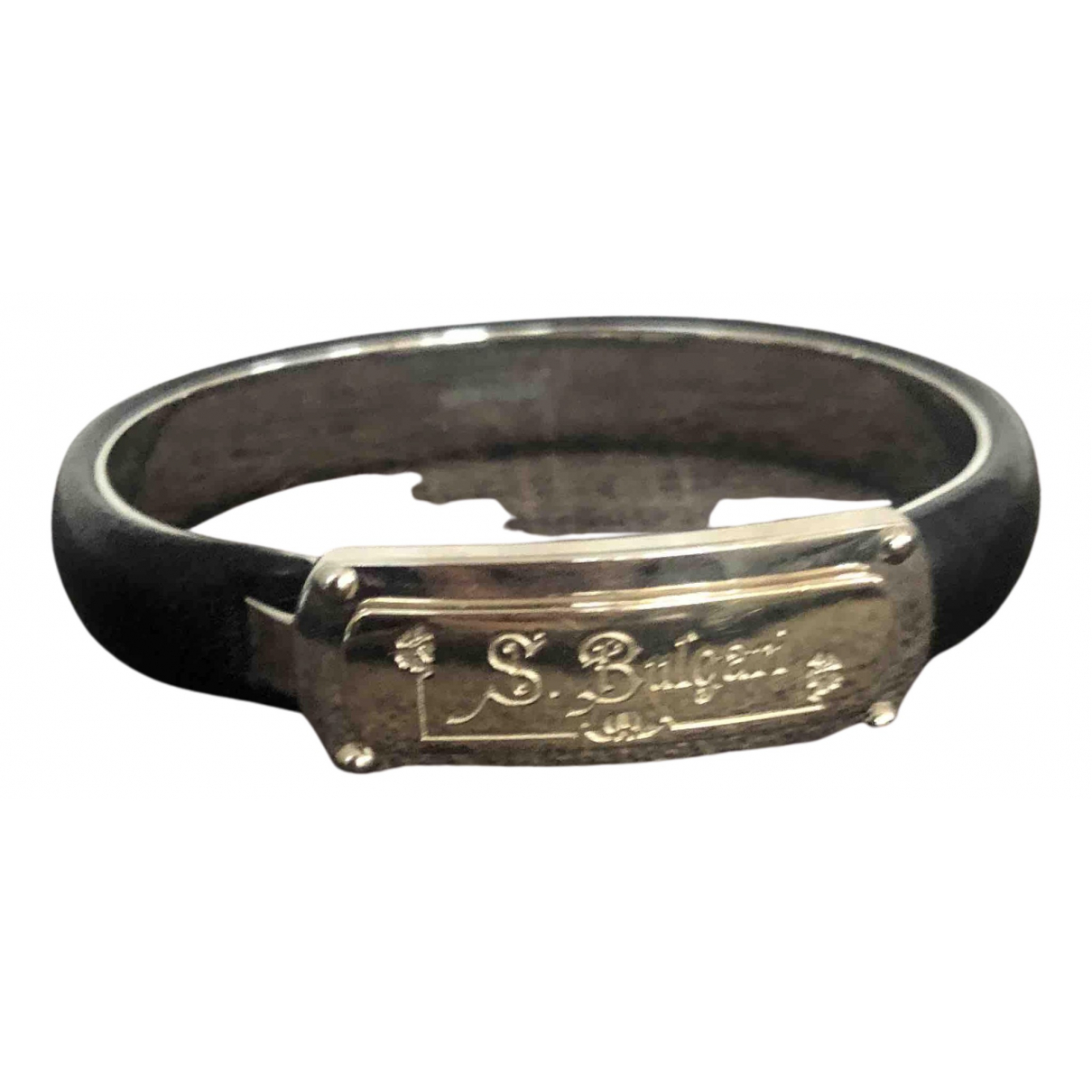Bvlgari N Black Silver Gilt bracelet for Women N