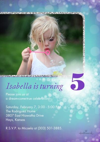 Kids Birthday Party 5x7 Cards, Premium Cardstock 120lb with Elegant Corners, Card & Stationery -Frosty Birthday