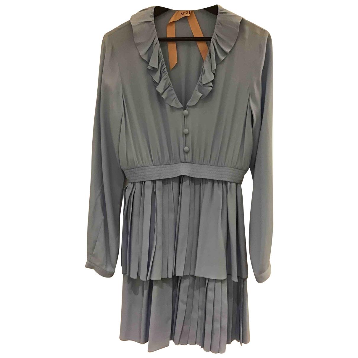 N°21 - Robe   pour femme en soie - bleu