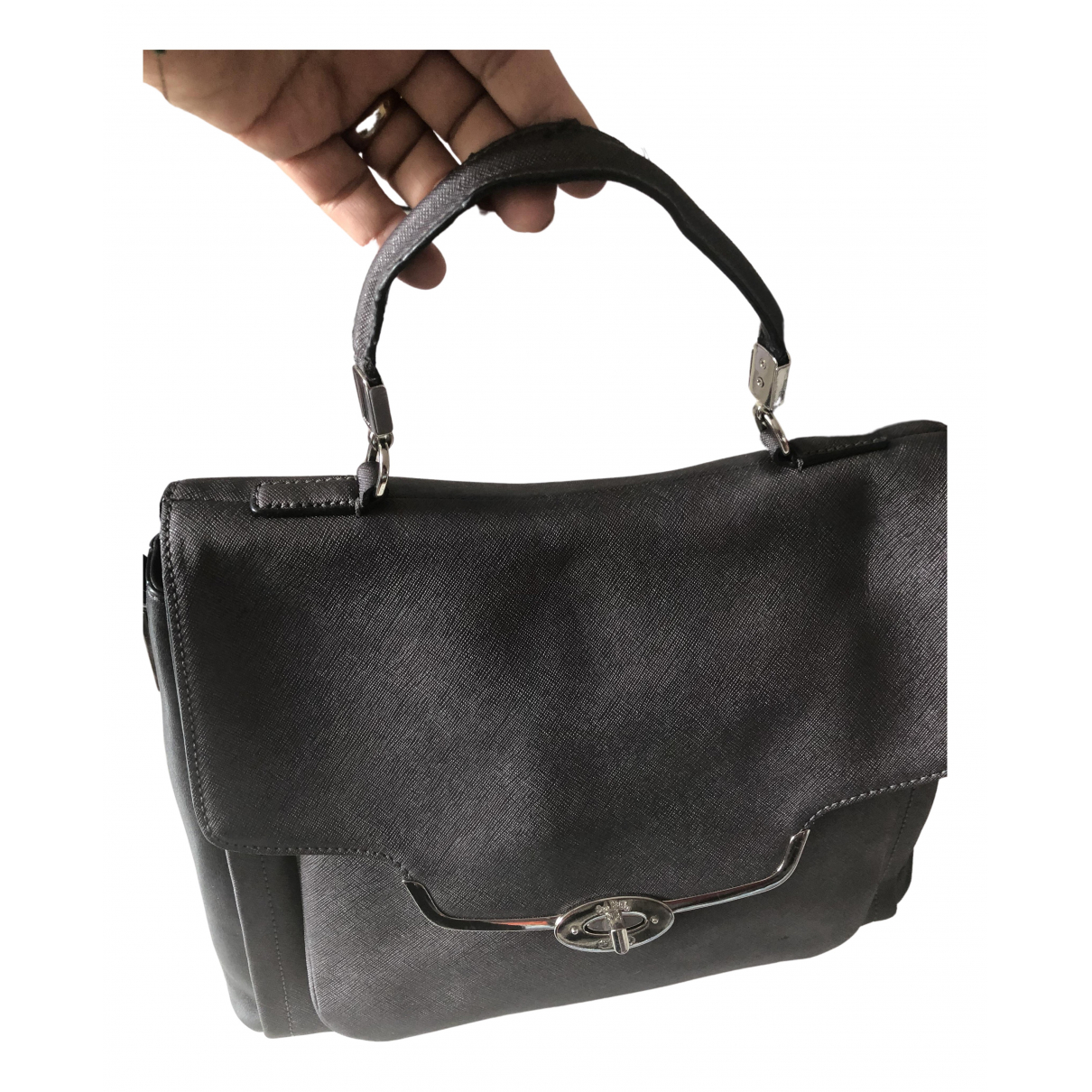 Coach - Sac a main   pour femme en cuir - gris