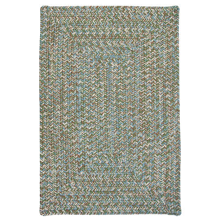 Colonial Mills Blaise Tweed Reversible Indoor/Outdoor Braided Rug, One Size , Green