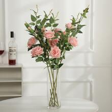 1 Strauss Kuenstliche Rose und 3 Blumen
