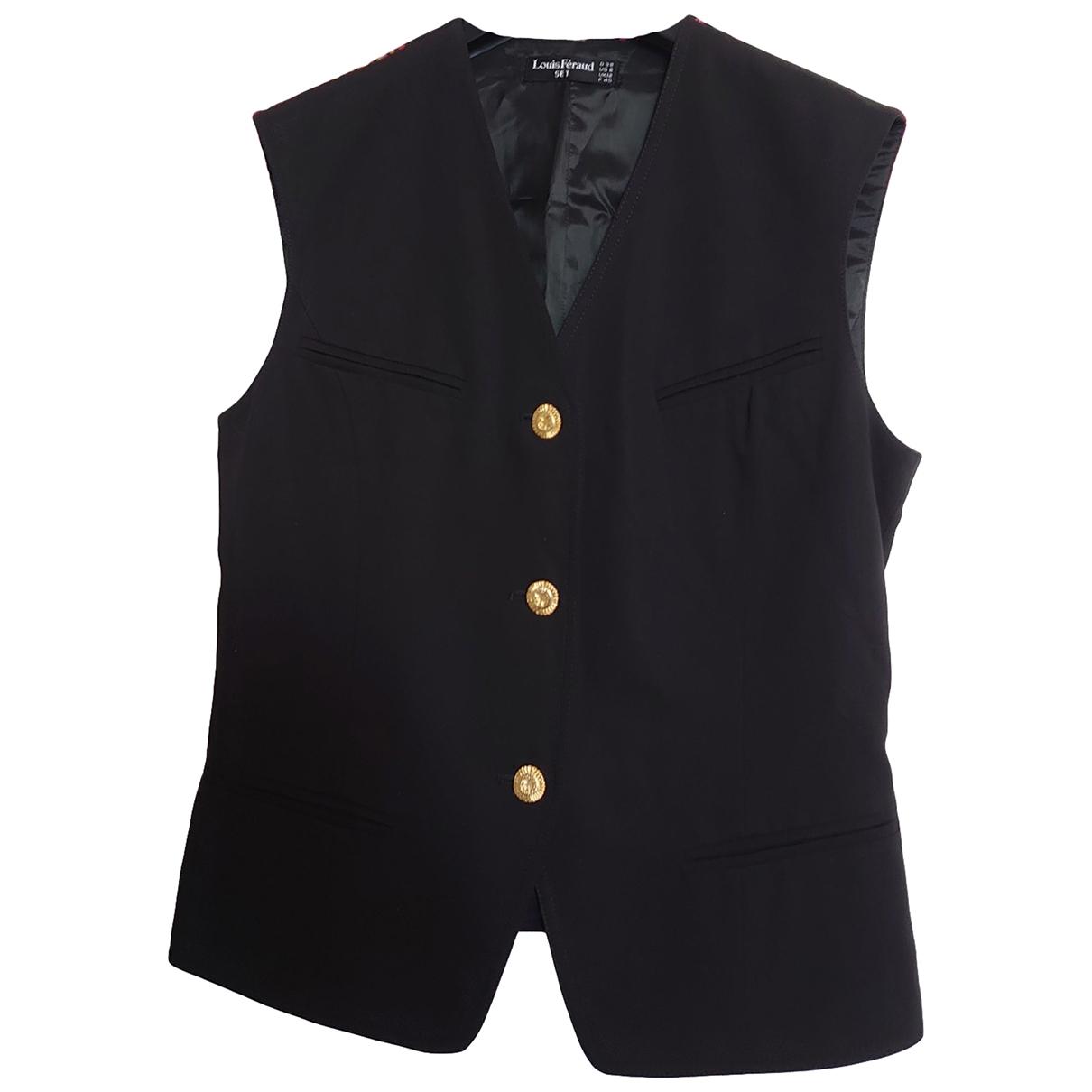 Louis Feraud \N Black Cotton Knitwear for Women 40 FR