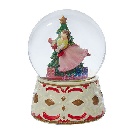 Kurt Adler 5.5-Inch Clara With Nutcracker Musical Water Snow Globes, One Size , Multiple Colors