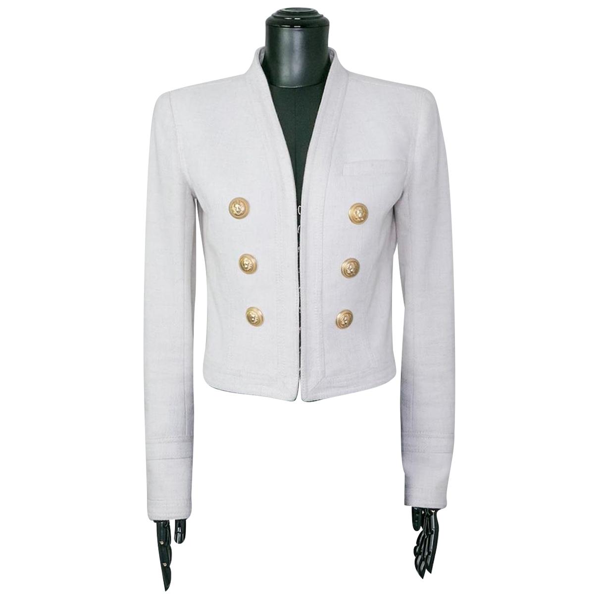 Balmain - Veste   pour femme en coton - blanc