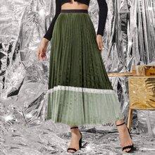 Faldas Tablas Monocolor Elegante