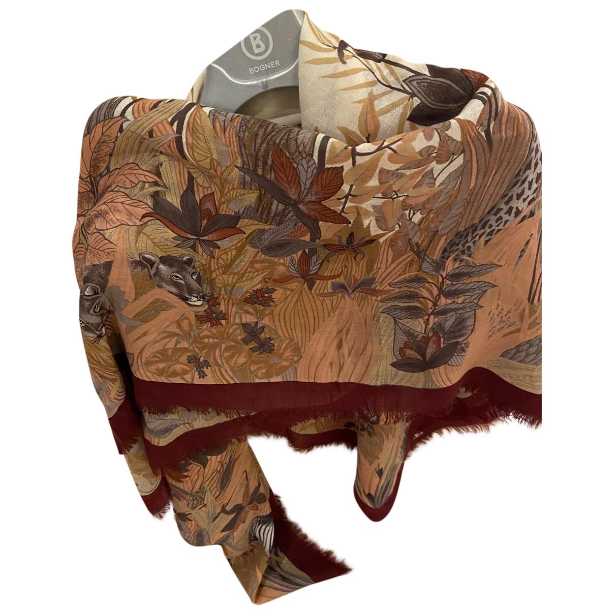 Celine N Burgundy Wool scarf for Women N