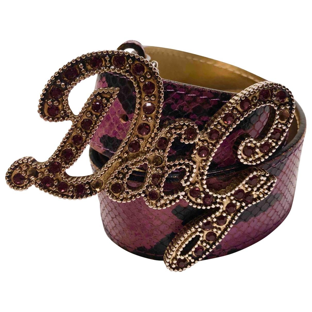 D&g \N Purple Leather belt for Women 90 cm