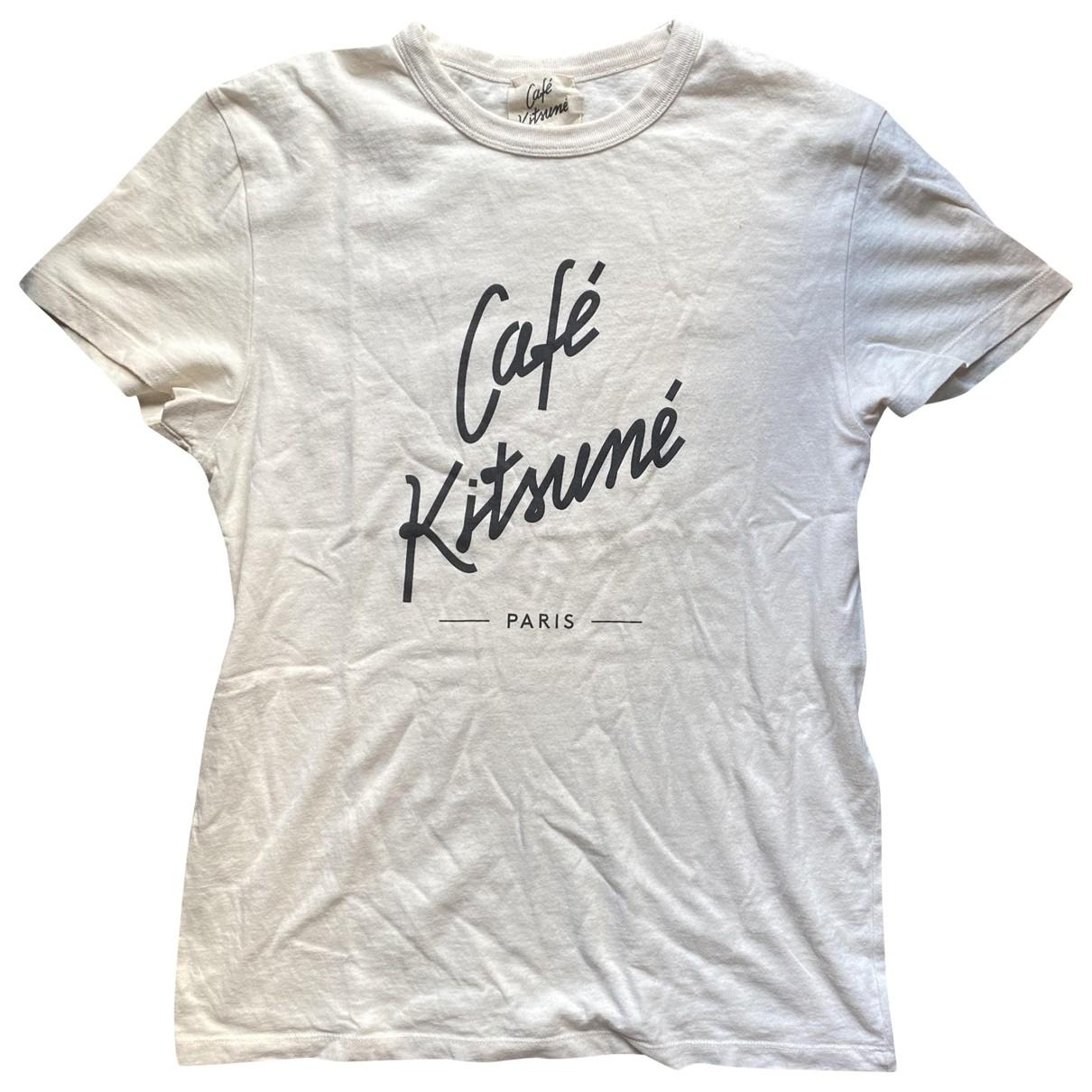 Maison Kitsune \N Beige Cotton T-shirts for Men S International