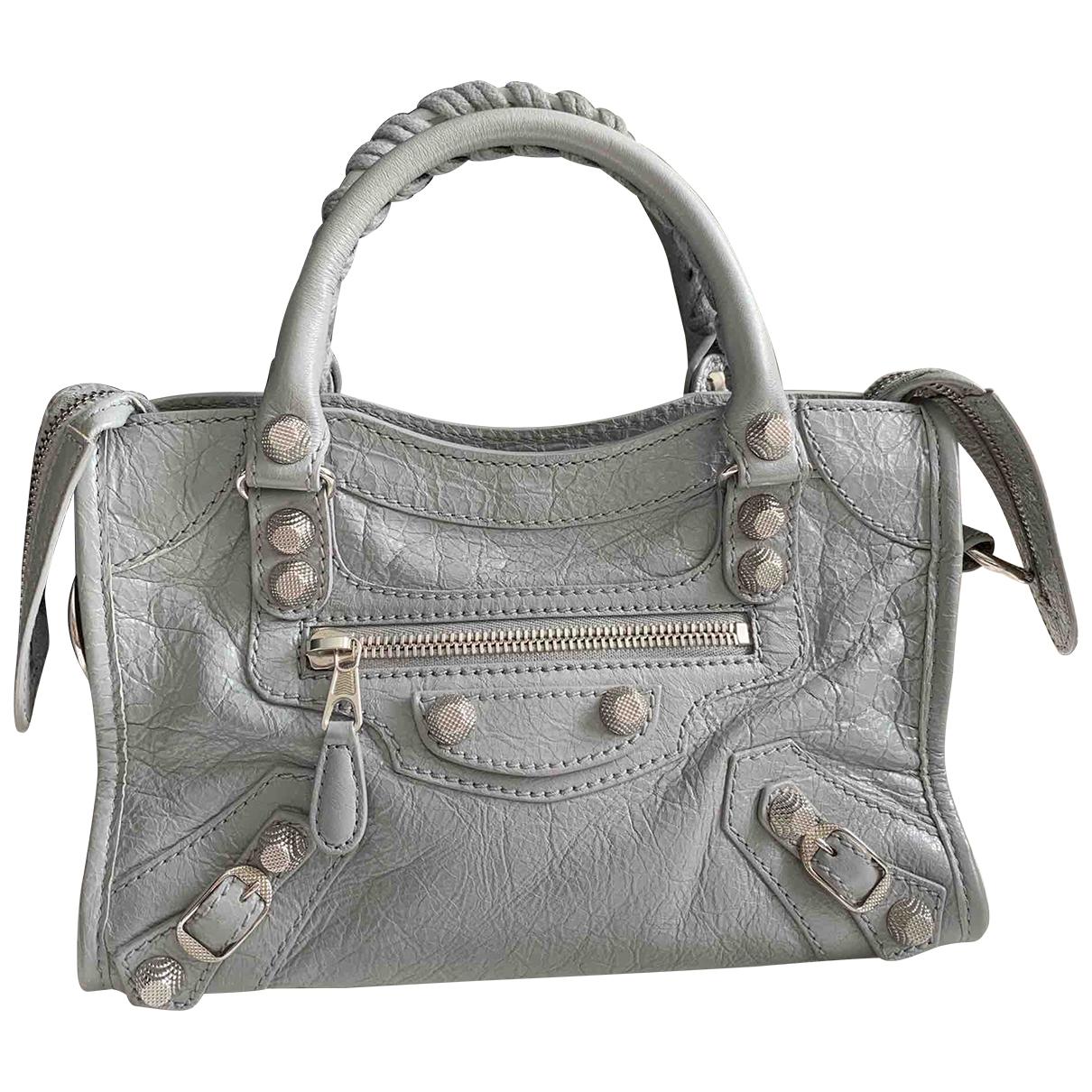 Balenciaga Classic Metalic Grey Leather handbag for Women \N