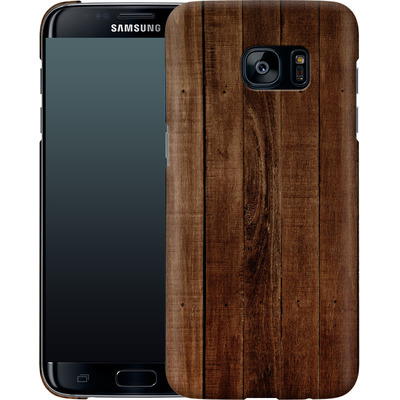 Samsung Galaxy S7 Edge Smartphone Huelle - Dark Wood Floor von caseable Designs