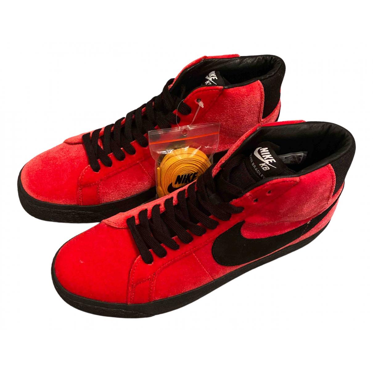Nike Blazer Red Suede Trainers for Men 42.5 EU