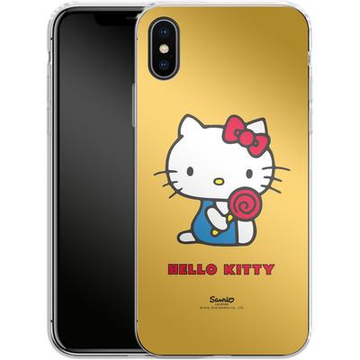 Apple iPhone X Silikon Handyhuelle - Hello Kitty Lollipop von Hello Kitty