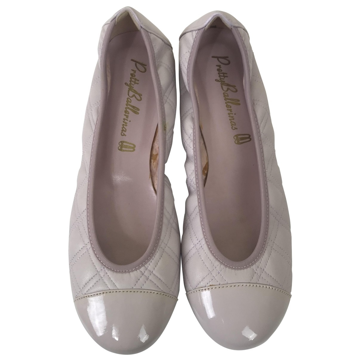 Pretty Ballerinas \N Ballerinas in  Rosa Leder