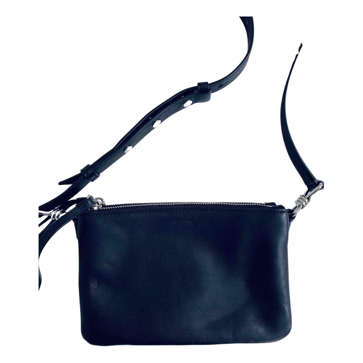 All Saints N Black Leather handbag for Women N