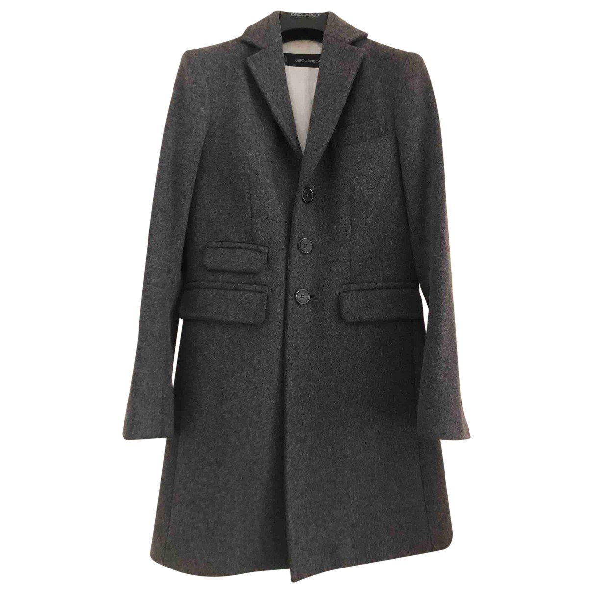 Dsquared2 N Anthracite Wool coat for Women 42 IT