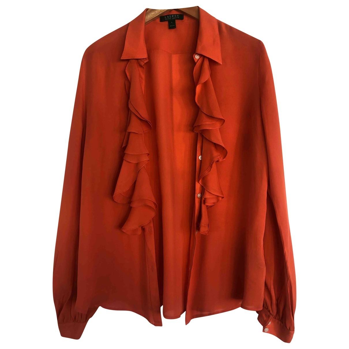 Lauren Ralph Lauren \N Top in  Orange Seide