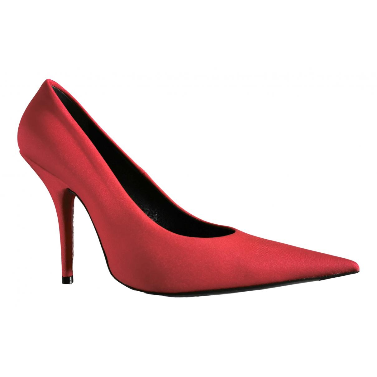 Balenciaga \N Red Velvet Heels for Women 38 EU