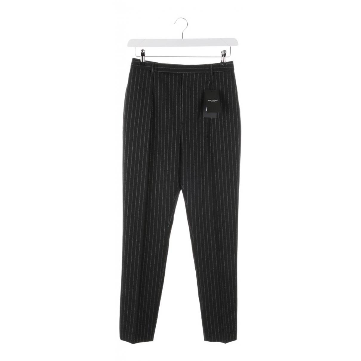 Saint Laurent - Pantalon   pour femme en laine - noir