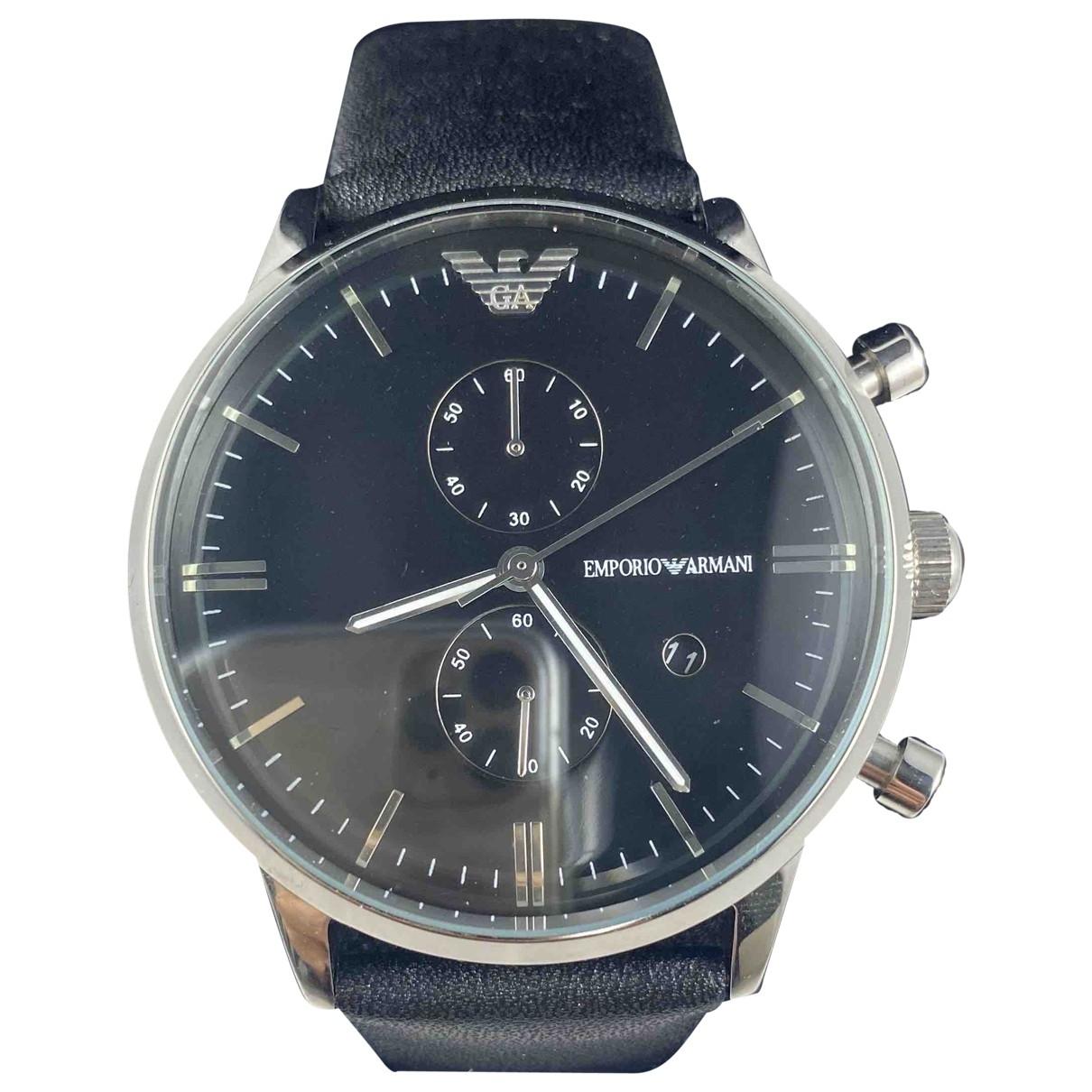 Emporio Armani \N Black Steel watch for Men \N